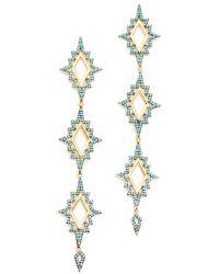Noir Jewelry - Blue Northern Lights Earrings - Lyst