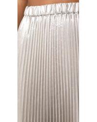 N°21 - Metallic Pleated Skirt - Lyst