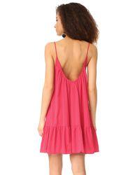 9seed - Red St. Tropez Ruffle Mini Dress - Lyst