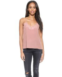 One By - Pink Lace Racer Camisole - Lyst