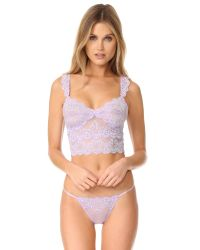 Only Hearts | Purple So Fine With Lace Crop Cami | Lyst