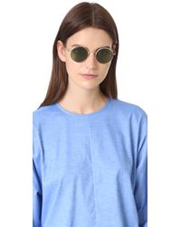 Oliver Peoples Green After Midnight Flat Lens Sunglasses