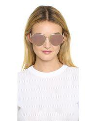 Oscar de la Renta - Pink Swarovski Crystal Mosaic Aviator Sunglasses - Lyst