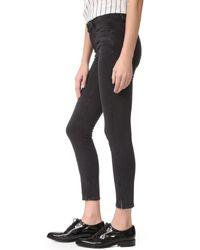 PAIGE Black Roxxi Ankle Jeans With Side Slits