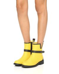 Rag & Bone Yellow Moto Rain Boots