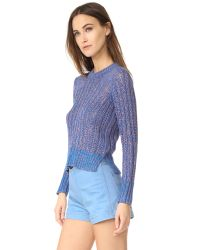 Rag & Bone - Blue Adira Crew Neck Sweater - Lyst