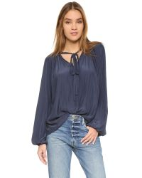 Ramy Brook | Blue Paris Blouse - Ivory | Lyst