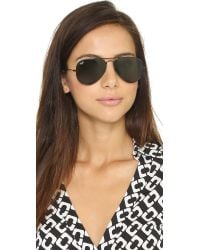 Ray-Ban Black Rb3025 Classic Aviator Sunglasses