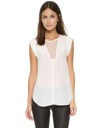 Rebecca Taylor | White Charlie Top | Lyst