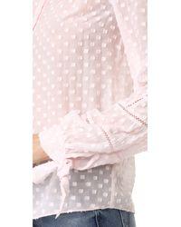 Rebecca Taylor Multicolor Long Sleeve Box Clip Blouse