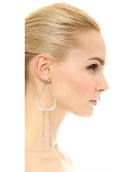 Rebecca Minkoff - Natural Double Tusk Statement Earrings - Lyst