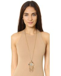 Rebecca Minkoff Metallic Large Dreamcatcher Pendant Necklace
