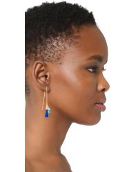 Rebecca Minkoff - Multicolor Threader Earrings With Tassels - Lyst