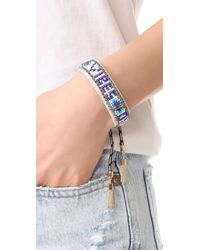 Rebecca Minkoff - Blue Good Vibes Only Friendship Bracelet - Lyst