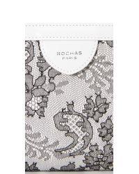 Rochas - Black Lace Clutch - Lyst