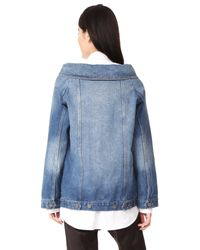 Robert Rodriguez - Blue Denim Long Jacket - Lyst