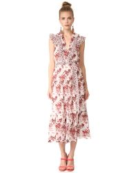 Robert Rodriguez | Multicolor Long Tiered Sleeveless Dress | Lyst