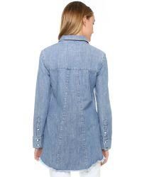 RTA - Blue Genevieve Shirt - Lyst