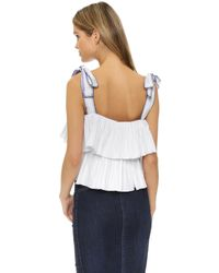 Saloni - White Jools Top - Lyst