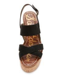 Sam Edelman - Black Destiny Wedge Sandals - Lyst