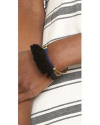 Serefina - Metallic Tassel Fringe Cuff Bracelet - Lyst