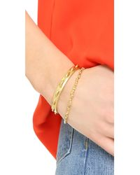 Shashi - Metallic Nugget Clasp Bracelet - Lyst