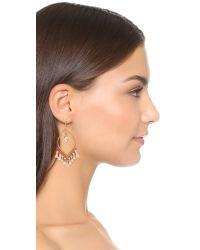 Shashi - White Mira Tassel Earrings - Lyst