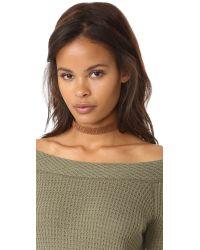 Shashi - Brown Jillian Choker Necklace - Lyst