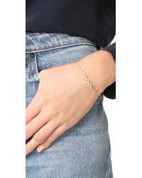 Shashi - Metallic Chain Pave Bracelet - Lyst