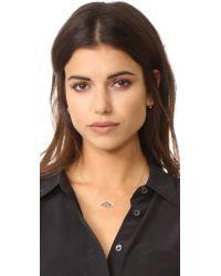 Shashi   Metallic Eye Charm Necklace   Lyst