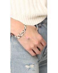 Shashi - Black Naomi Wrap Bracelet - Lyst