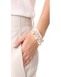 Shashi - White Amber Bracelet Set - Lyst