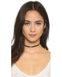 SHAY | Black Three Diamond Star Choker Necklace | Lyst