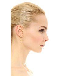 Soave Oro   Metallic Twist Earrings   Lyst