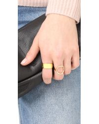 Soave Oro - Metallic Polished Band Ring - Lyst