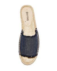 Soludos - Blue Espadrille Slide Sandals - Lyst