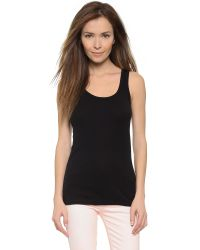 Splendid | Black 1x1 Tank Top | Lyst
