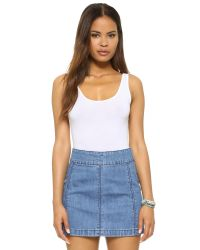 Splendid | White Layers Tank Bodysuit | Lyst