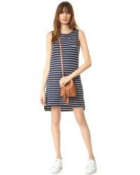 Sundry - Blue Sleeveless Shift Dress - Lyst
