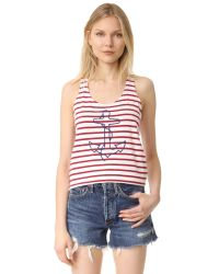 Sundry | Red Anchor Tank Top | Lyst