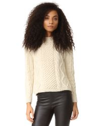 Tejido | Natural Aran Cable Pullover | Lyst