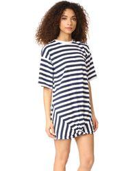 The Fifth Label Blue Off Duty T-shirt Dress
