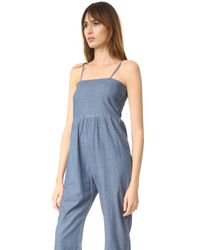 The Great - Multicolor The Chambray Romper - Lyst