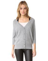 Theory | Gray Saline B. Cashmere Sweater | Lyst