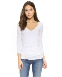 Three Dots White Double Layer Top