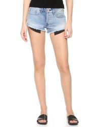 3x1 | Blue Wm5 Cutoff Shorts | Lyst