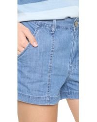 3x1 - Blue W2 Military Shorts - Lyst