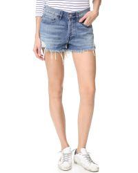 3x1 Blue W2 Boyfriend Shorts
