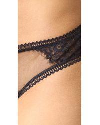 Thistle & Spire - Black Eyelash Lace Mirage Thong - Lyst