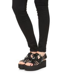 Toga Pulla - Black Wedge Sandals - Lyst
